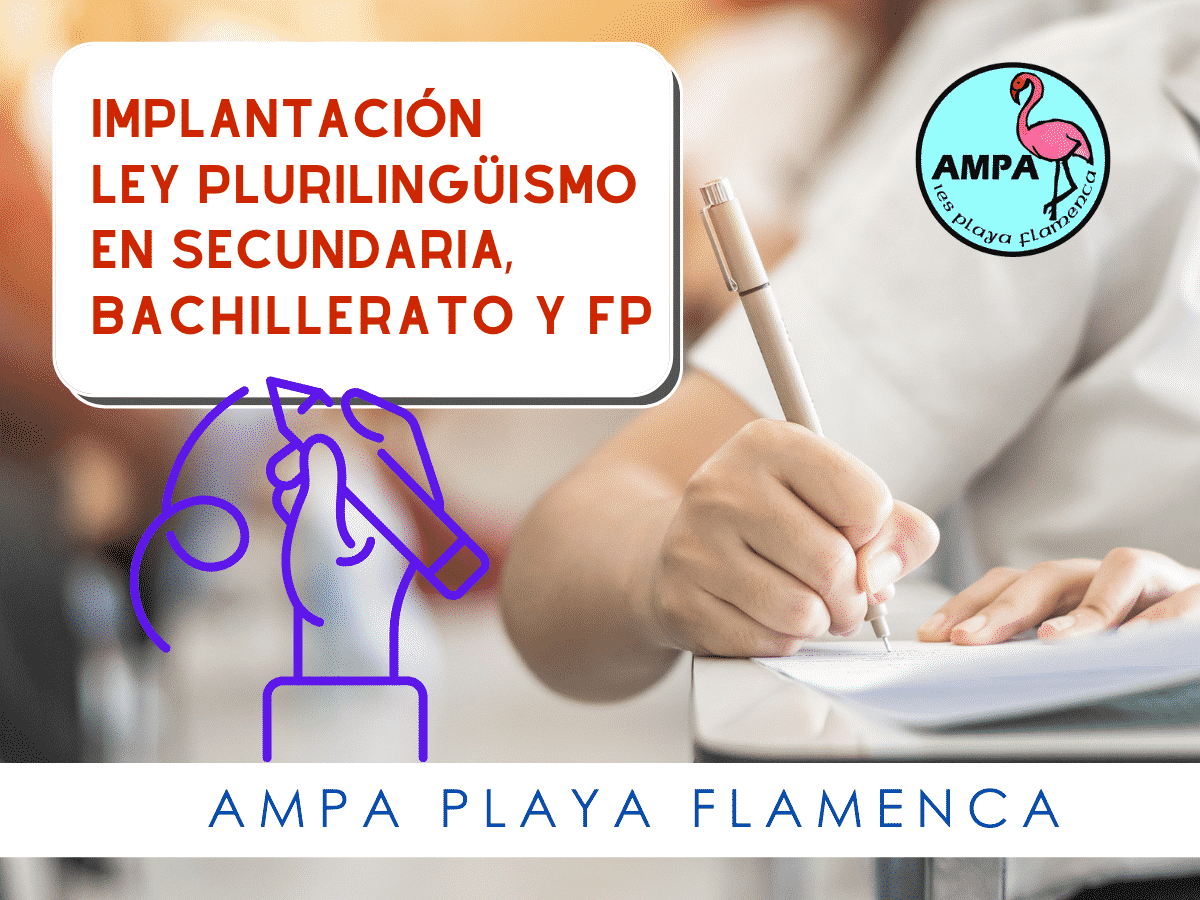Implantación ley plurilingüismo en secundaria, bachillerato y FP