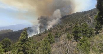 Пожар на острове La Palma