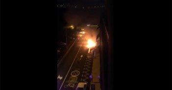 Взрыв авто в Las Galletas, Arona, напугал людей этим утром
