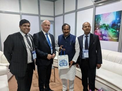 IT Minister KJ George of Karnataka with HE Pravin Goenka , Hon .Consul of Estonia in Karnataka