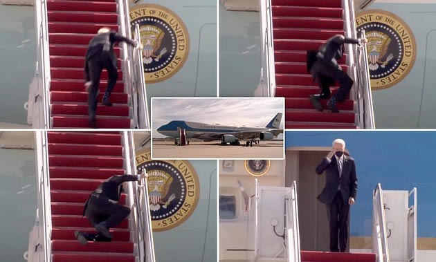 Joe Biden falls three times on stairs of Air Force One - Punch Newspapers