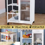 Kitchen Storage Trolley Island Bench With Wheels Portable Workbench Shelf Drawer 602299759432 Ebay