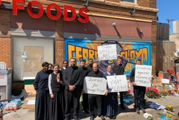 Church delivers powerful protest over George Floyd's killing with hymns, Gospel