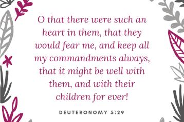 Deuteronomy 5:29