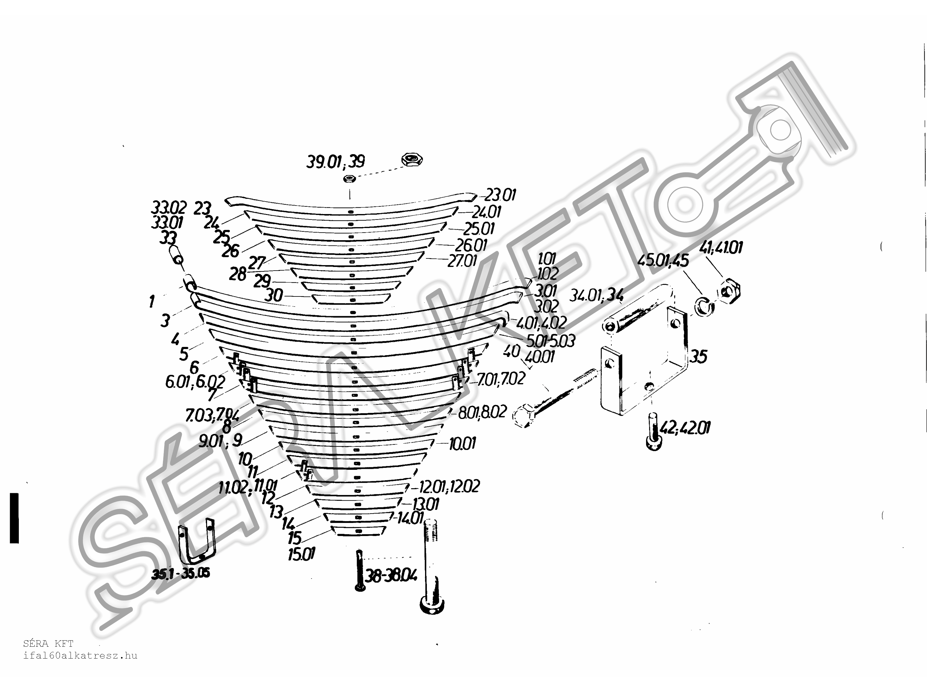 Rear Spring Components
