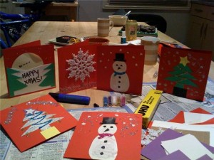 homemade christmas card 6 Kid Friendly Holiday Activities for Winter Break