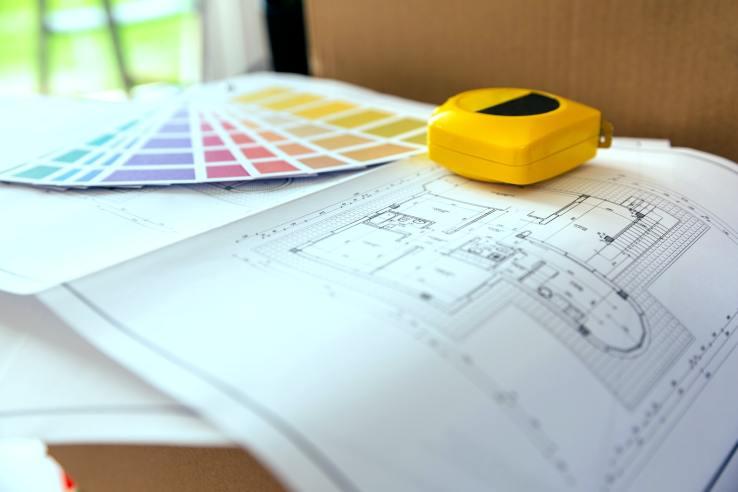 Plan, color palette and metre