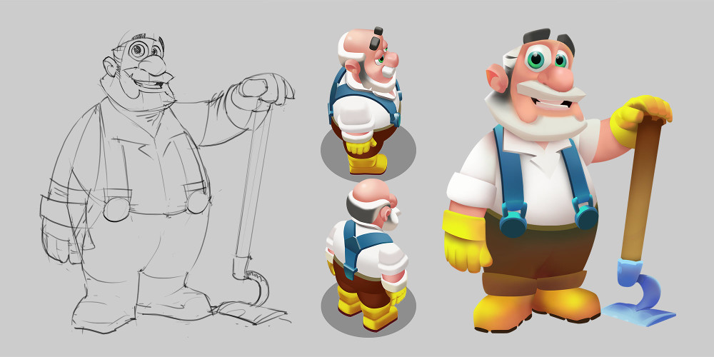 2 farm on grandpa concept art
