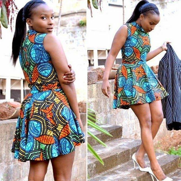 ankara short gown 2