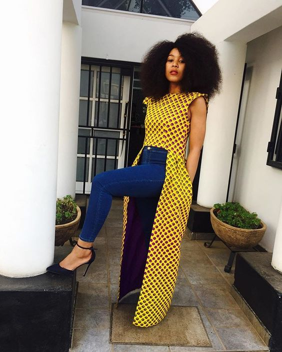 Latest Ankara Tops With Jeans Styles
