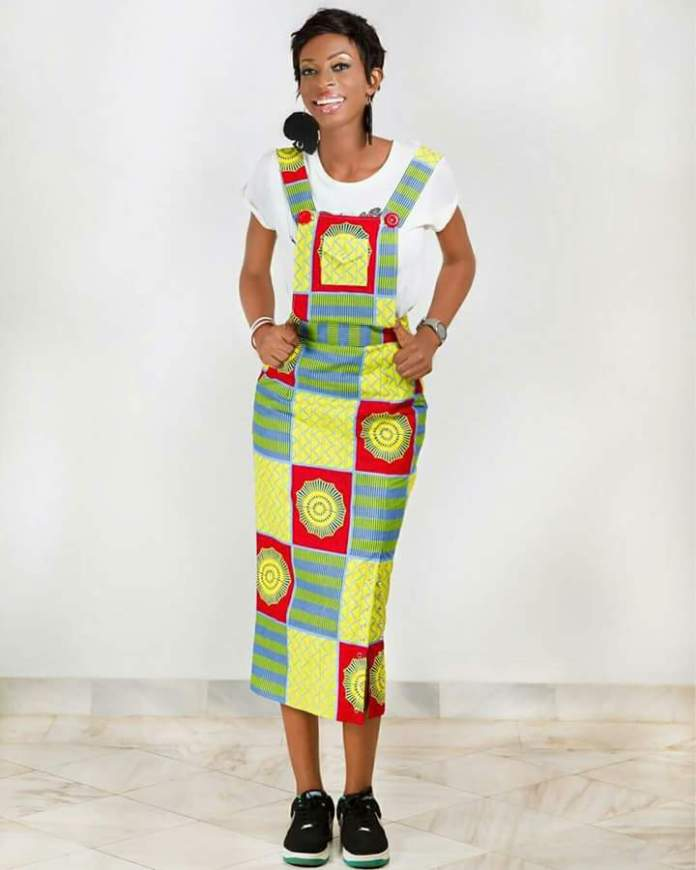 Stylish and Casual Ankara gown