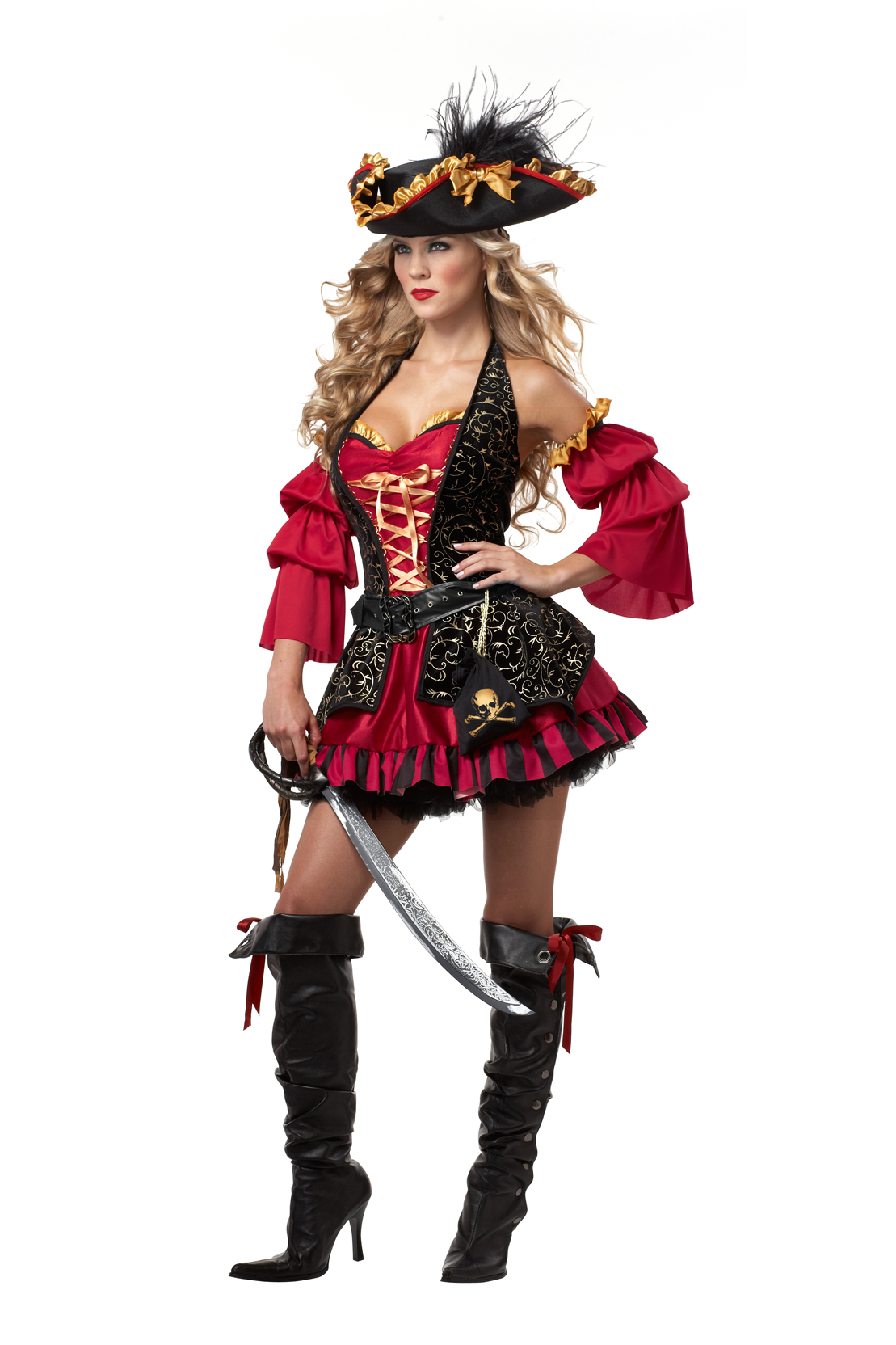 Captains Wench Pirate Womens Adult Costume Halloween