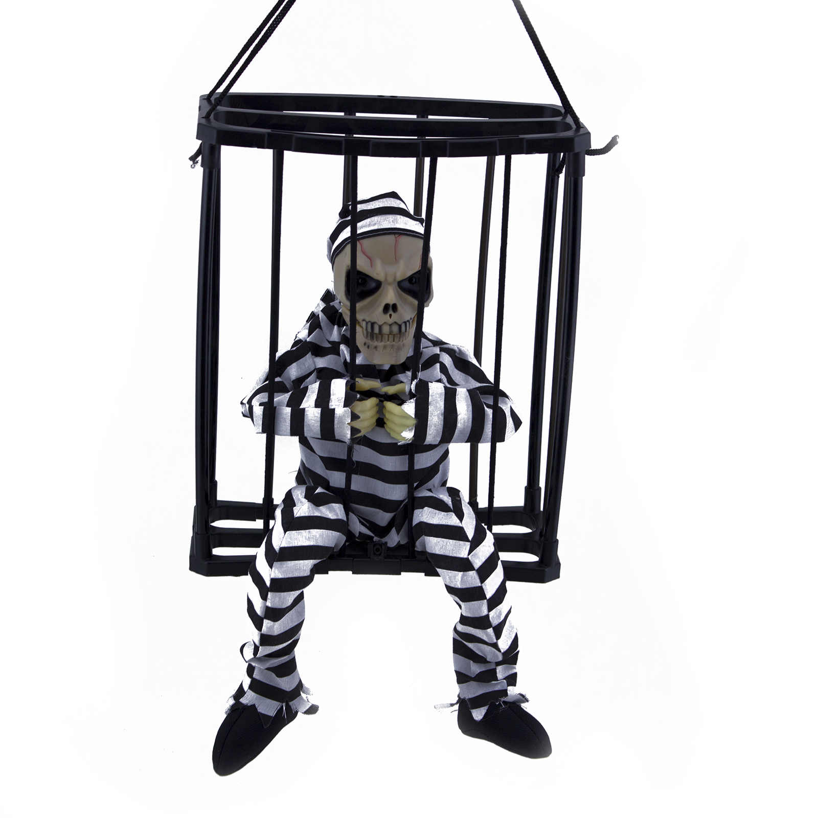 Hanging Skeleton Caged Jail Prisoner Halloween Decoration