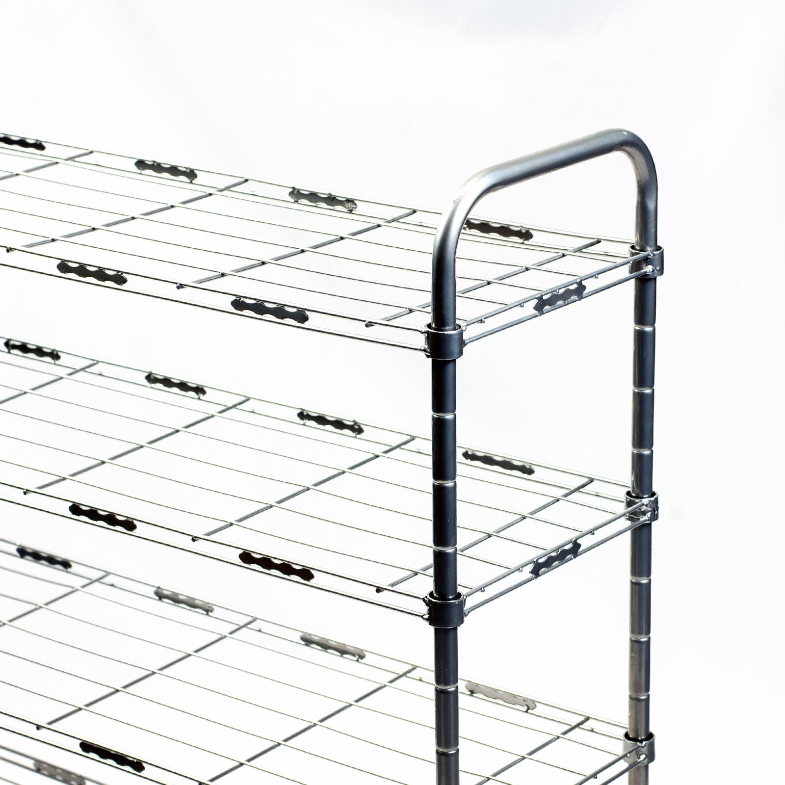 3 4 5 Tier Steel Shoe Shelf Tower Rack Closet Organizer