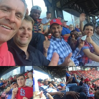 Attendees catch a little R&R at a Cardinals game in St. Louis, Missouri.