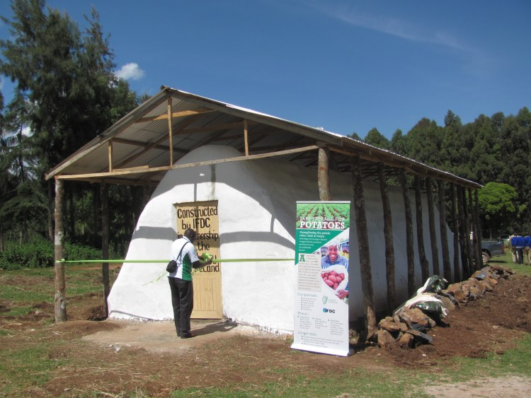 New potato warehouse in Timau, Kenya, constructed by IFDC in partnership with  the Irish Embassy in Kenya.