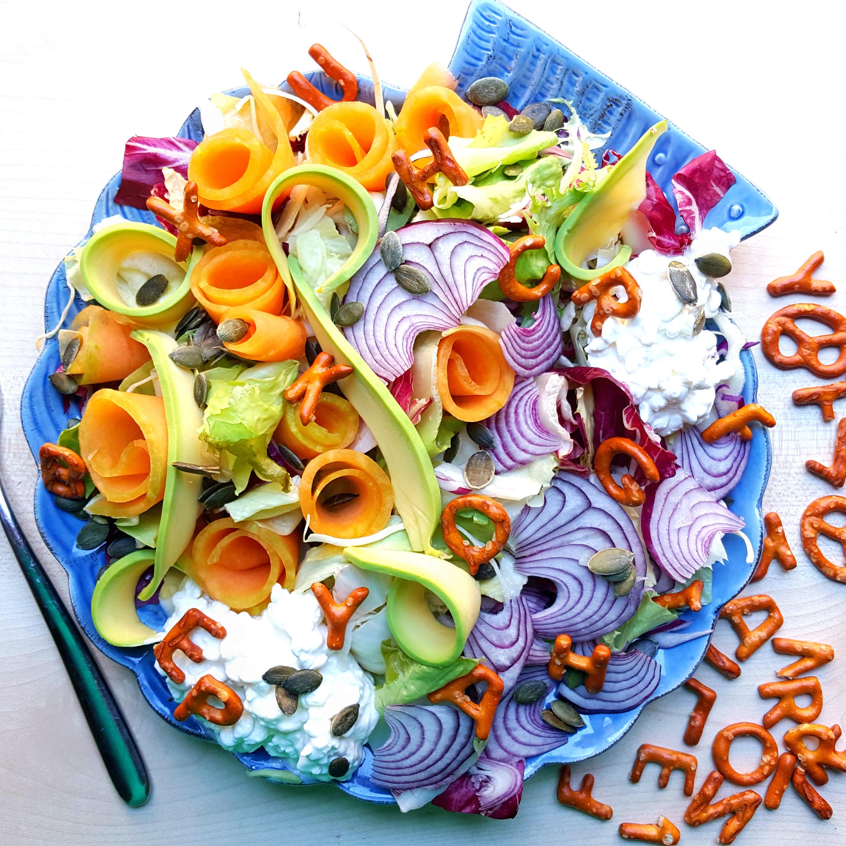 Alfabetty salad