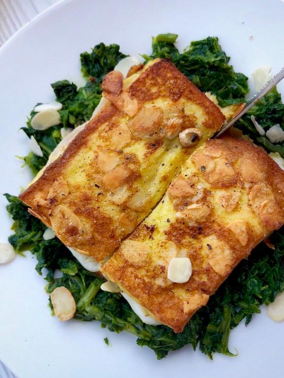 Toast perdu salato e carpaccio di pompelmi