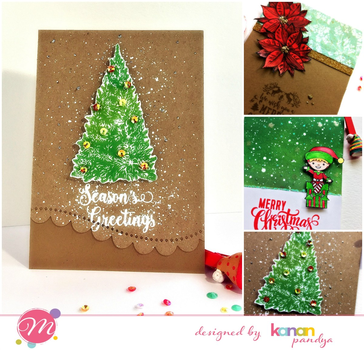 Mudra Post – Three Christmas Cards!!