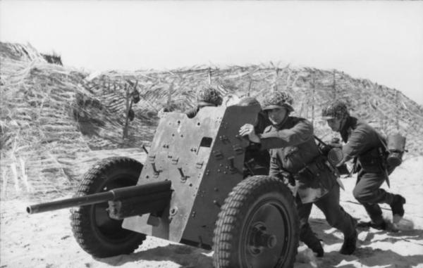 A Pak 36 in Northern France, 1944