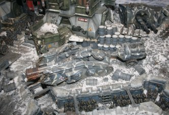 This Malcador Infernus was part of a large diorama at Warhammer World