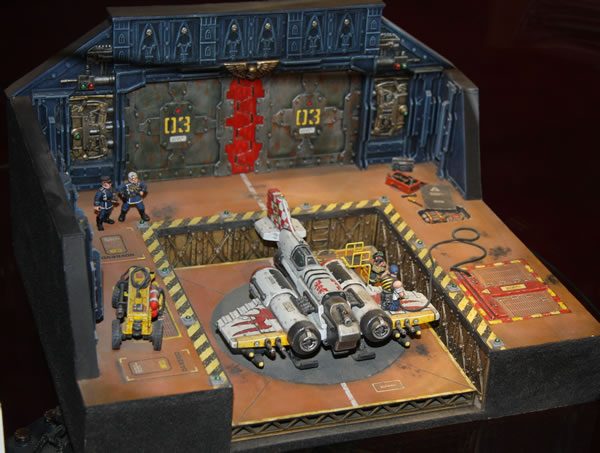 Dave Andrews' excellent Thunderbolt diorama, with a scratchbuilt Thunderbolt