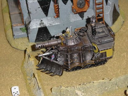 Imperial Guard Steam Tank - A variant Leman Russ, very Space 1889'ish.