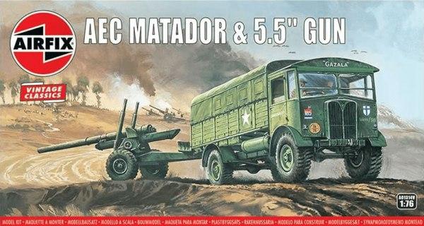 """Airfix AEC Matador and 5.5""""Howitzer"""
