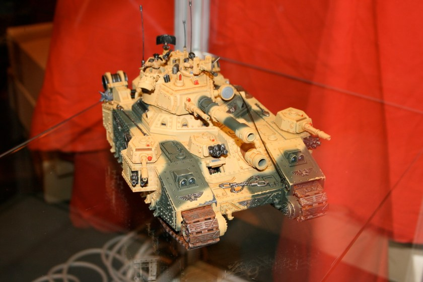 Imperial Guard Baneblade on display at GamesDay 2007.