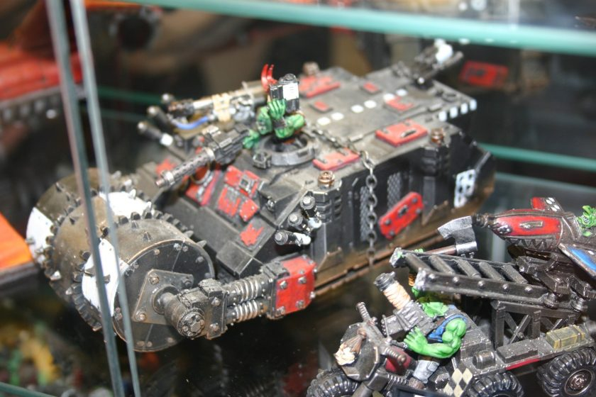 Ork Looted Rhino with heavy roller.