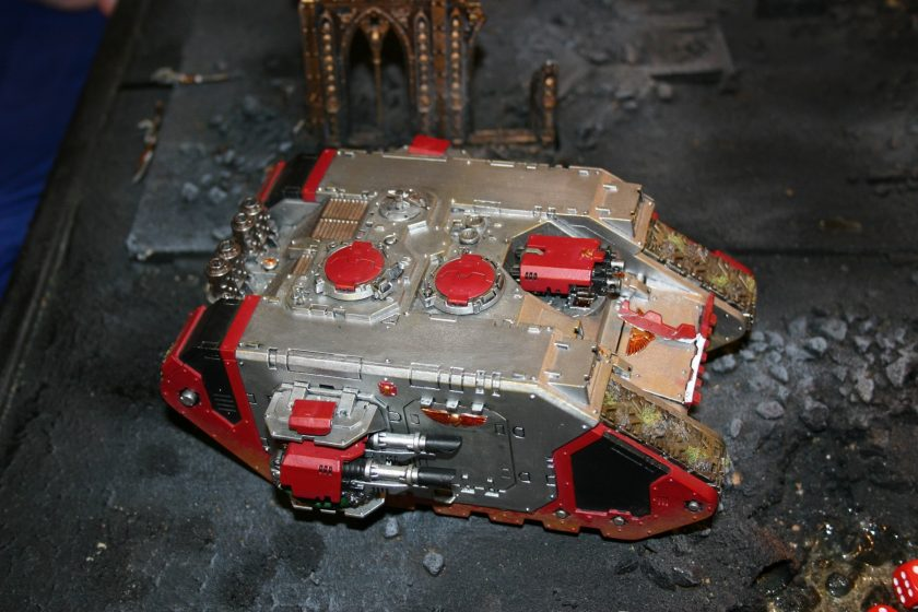 Inquisitor Land Raider from a participation game at GamesDay 2006.