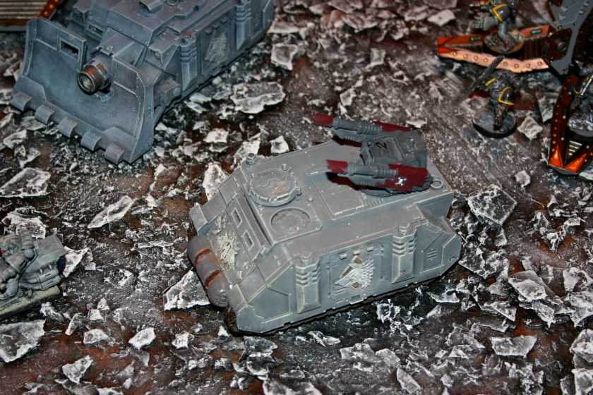 Forgeworld Razorback, it is part of Mike Sharpe's superb Space Wolves army, which was on show at GamesDay 2006.