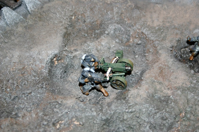 Death Korps of Krieg Team with Heavy Bolter.