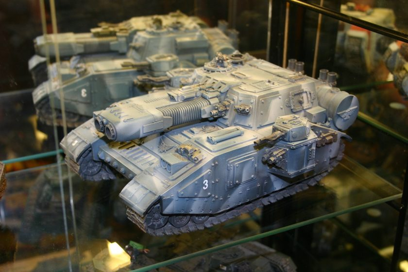 Stormblade from the Forgeworld Displays. Many Forge Worlds build their own variants of the STC Shadowsword design, armed with different weapons.