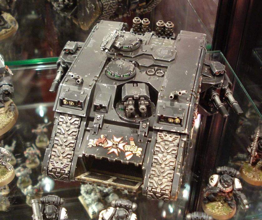 Black Templars Land Raider on display at Warhammer World.