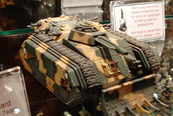 Imperial Guard Catachan Chimera at Warhammer World.