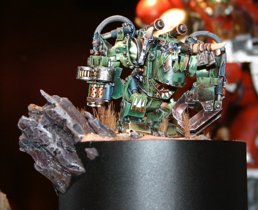 Ork Warboss in Mega-Armour, a Golden Demon winner at the UK GamesDay 2006.