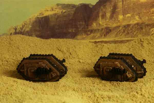 Land Raiders in the desert.