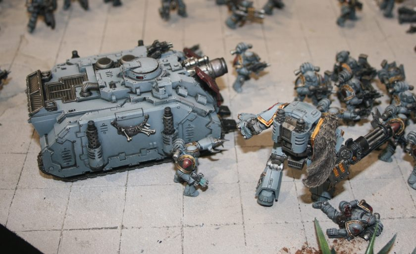 Space Wolves Legion Vindicator and Dreadnought