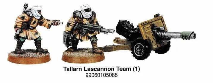 Tallarn Imperial Guard Lascannon
