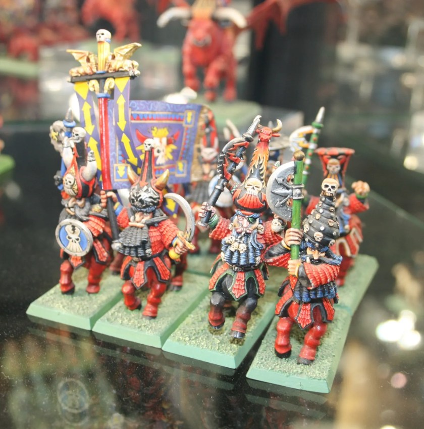Chaos Dwarfs on display at Warhammer World