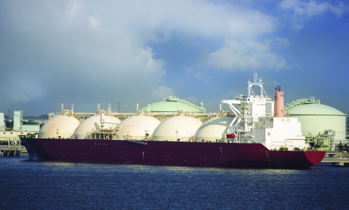 LNG tankers deliver their cargoes across the globe.