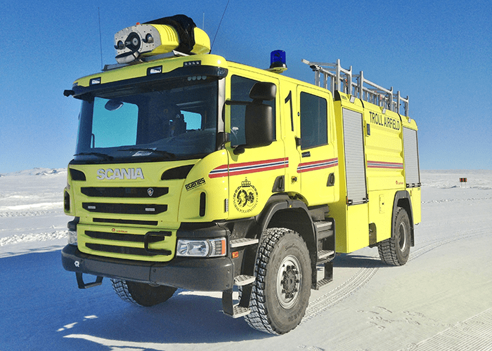 The southernmost Scania fire engine in the world