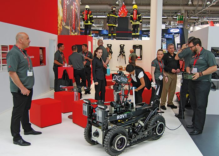 Acting as the 'eyes' of the brigade, the portable ROV1 robot can be deployed to get closer to a burning building than is physically safe for firefighters.
