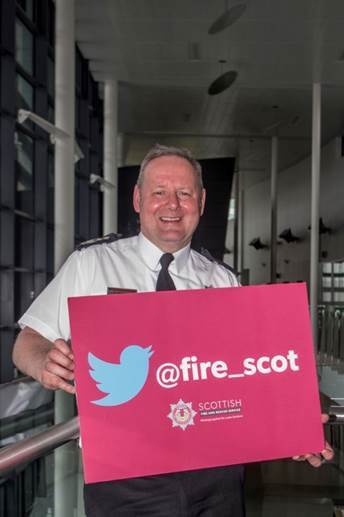 Chief Officer Alasdair Hay celebrates the launch of @fire_scot