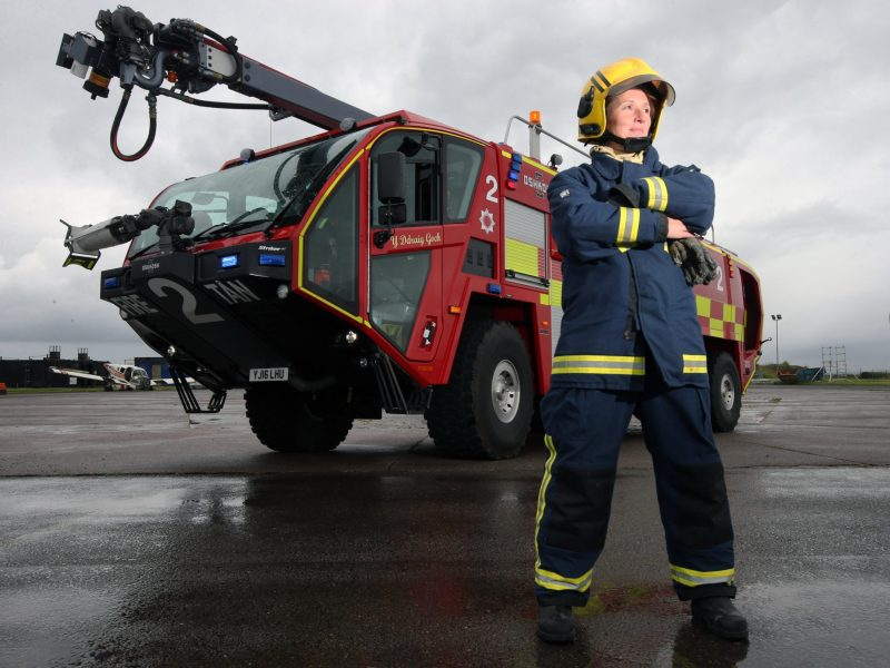 Three new fire appliances unveiled at Cardiff Airport