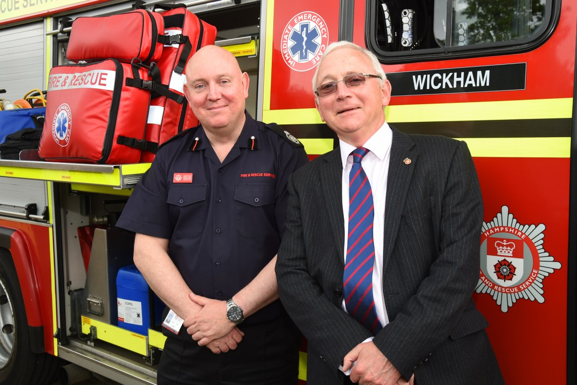 HFRS Area Manager Steve Foye and HFRA chairman Chris Carter