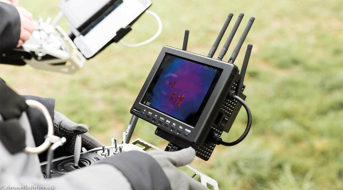 Thermal imaging cameras on a drone enable fire crews to identify hazards, hotspots, and even find missing people under rubble on a search and rescue mission.