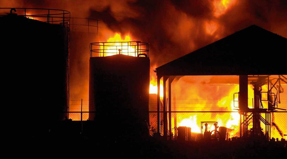 Industrial fires can escalate quickly, often fueled by oil, gasoline or other flammable liquids.