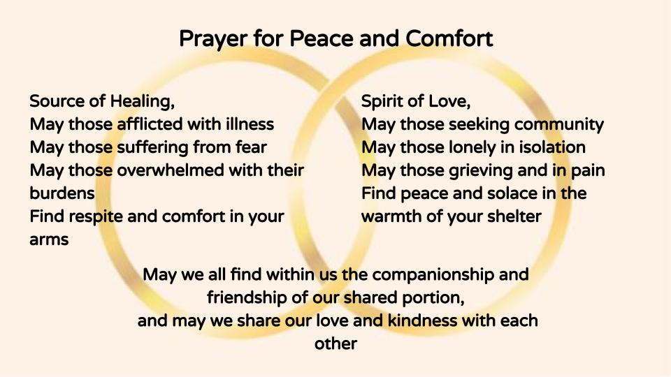 A Prayer for Peace and Comfort